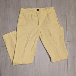 Men's J. Crew Yellow Stanton Trouser Pant 32x32